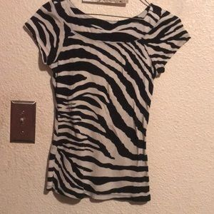 Women's Express zebra striped print top sz medium